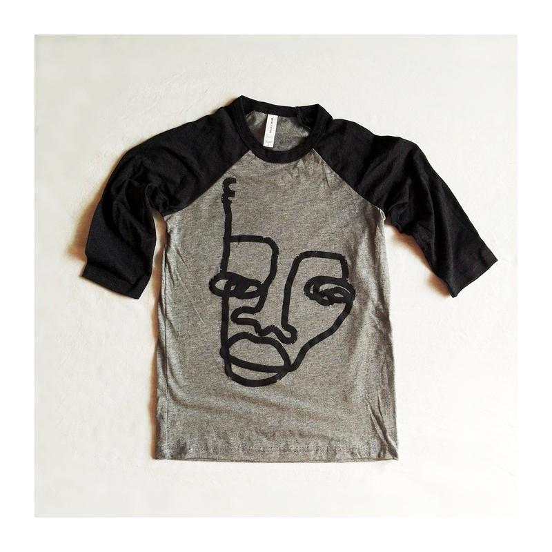 Camiseta gris Niñxs media manga