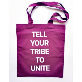 BOLSO - TELL YOUR TRIBE TO UNITE morado