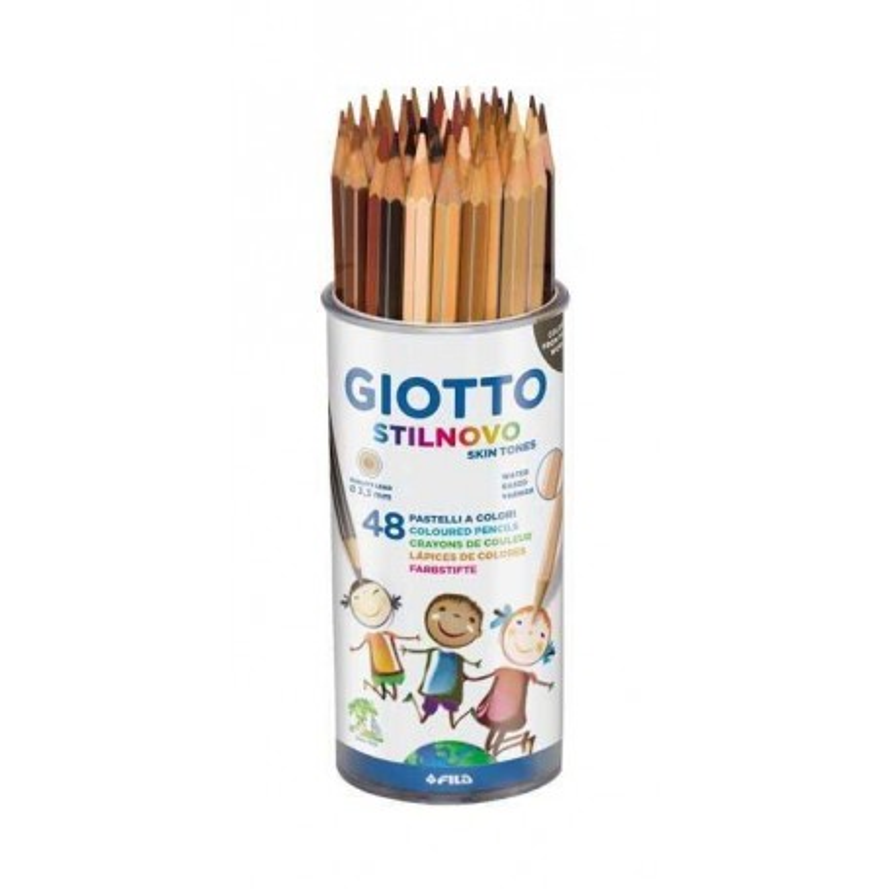 Lápices del color de la piel - Skin tones GIOTTO STILNOVO ESTUCHE 48 UD