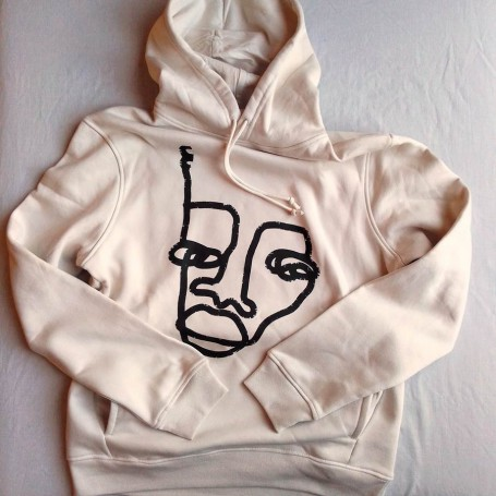 Sudaderas orgánica con capucha by Mackandal - Unisex off white